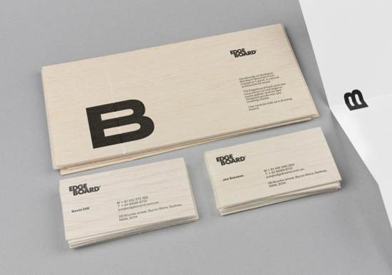 edgeboard business card design