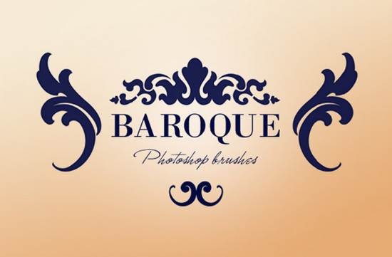 free baroque ornaments brushes of photoshop