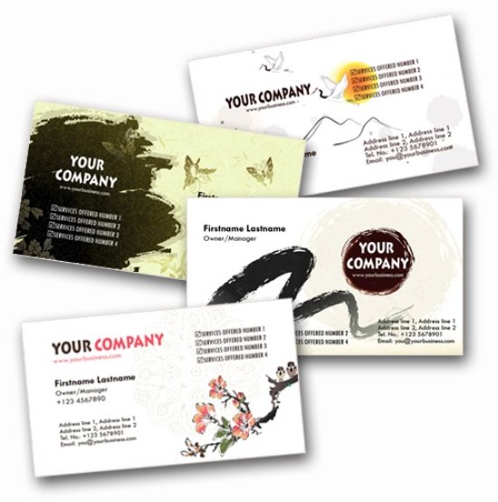 4 Asian-Inspired Personal Business Cards