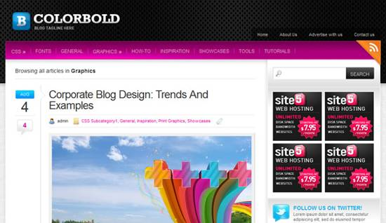 Colorbold wp theme