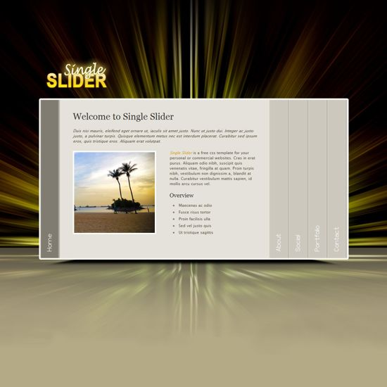 Free single slider CSS Template