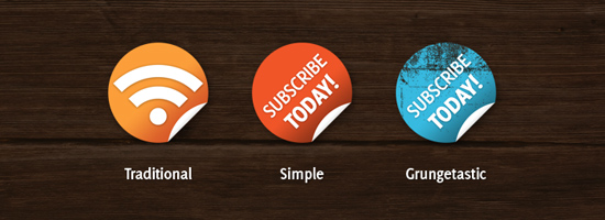 Nice n Simple Subscribe Badges
