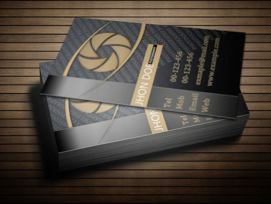 Free Premium PSD Photography Business Card Template - Photography business cards templates free