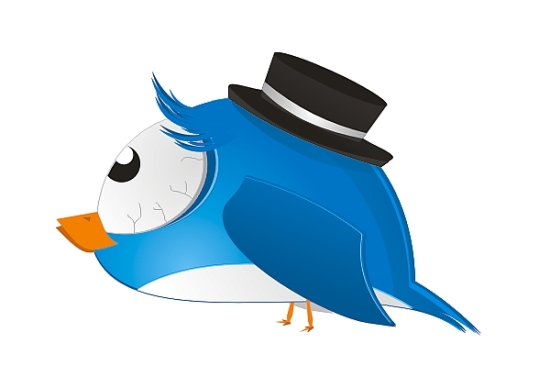 Quirky Twitter Bird in Corel Draw