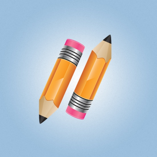 Stylish Pencil Icon In Illustrator