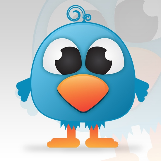Twitter Bird Character in Illustrator