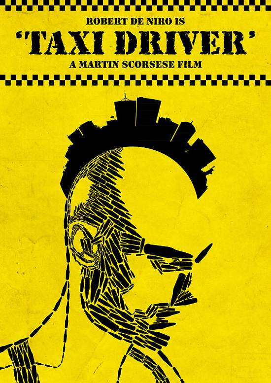 taxi driver typographic poster
