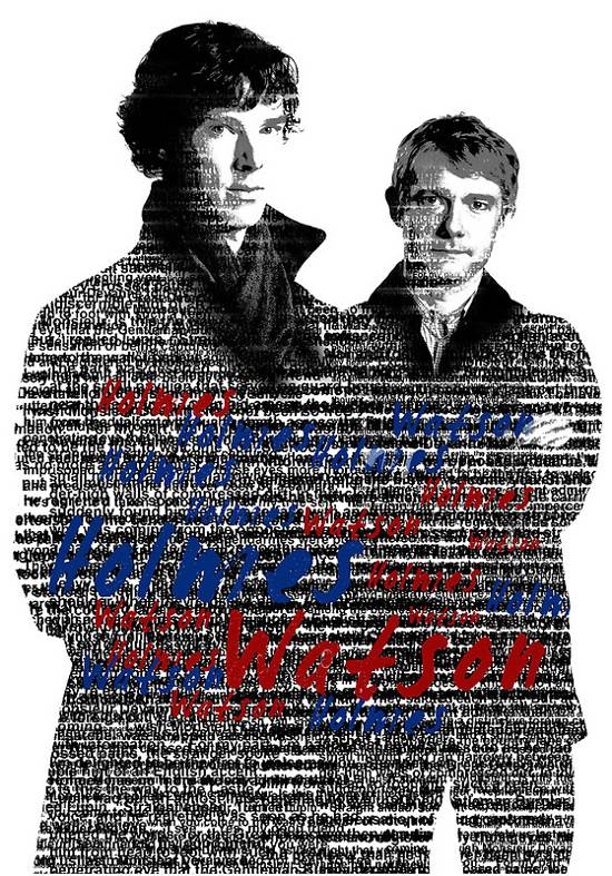 holmes and watson typography poster