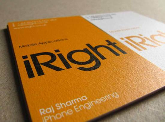 iright business card design