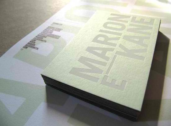 marion e kane business card design
