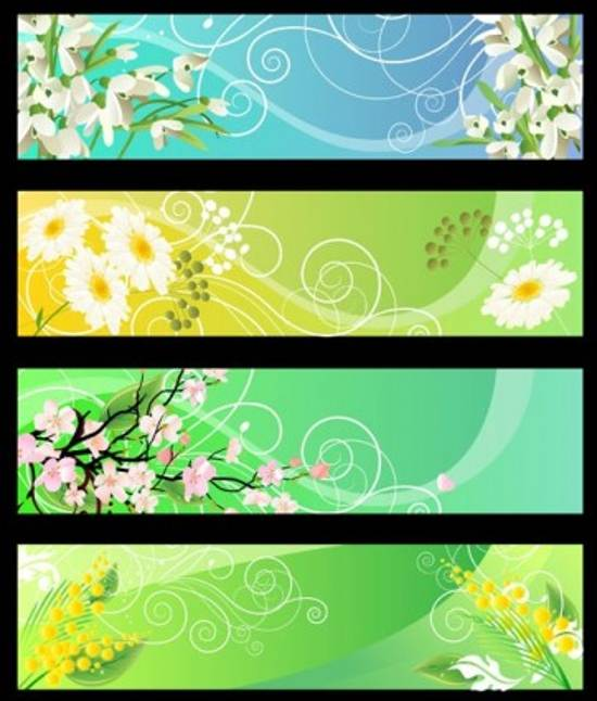 free beautiful flower banner