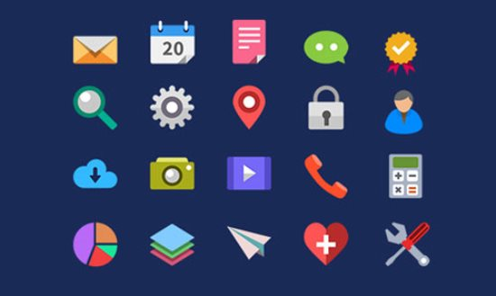 20 Flat PSD Icons