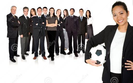 business team leader stock image