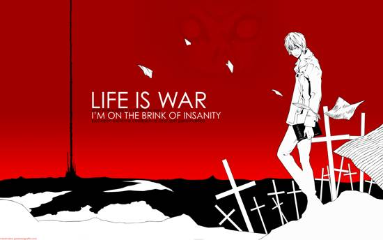 life is war quote wallpaper