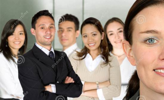 business women and her team stock image