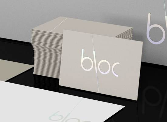 bloc business card design
