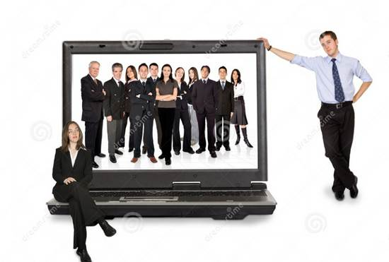 business online team stock image