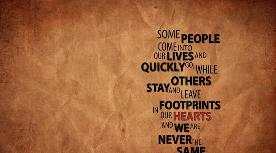 footprints quote wallpaper