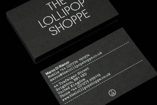the lollipop shoppe business card design