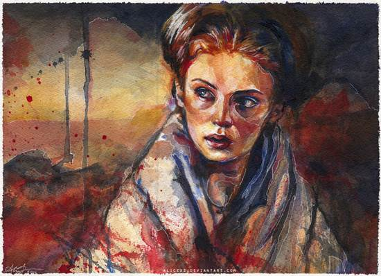 the young lady stark drawing and painting