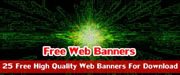 25 Free High Quality Web Banners For Download