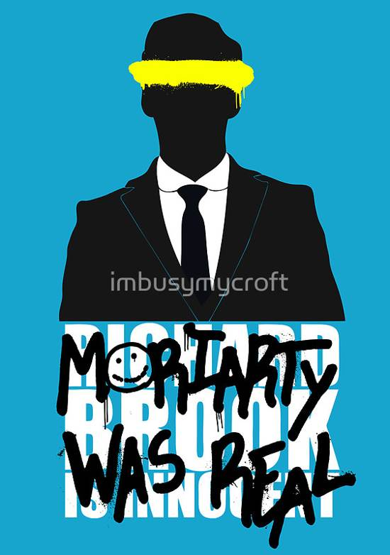 moriarty was real typographic poster