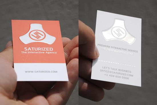 saturized business card design