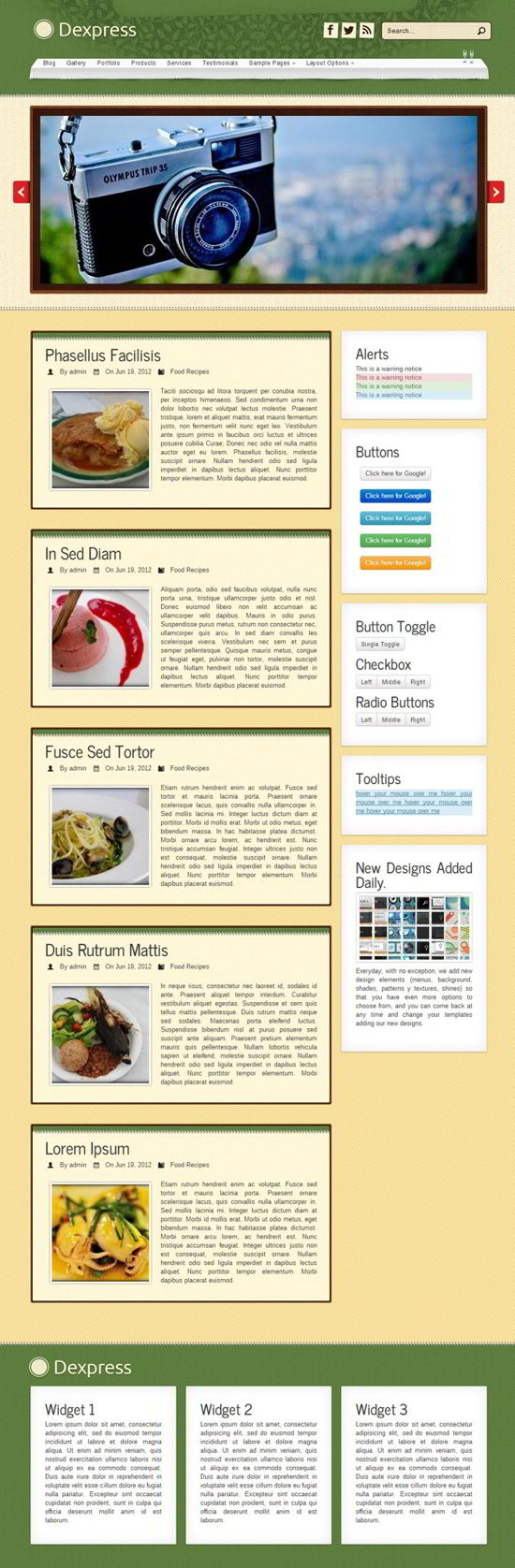Delicious and Natural Restaurant WordPress Theme
