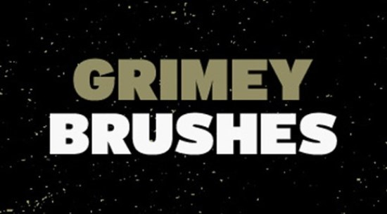 Grimey Photoshop Brushes