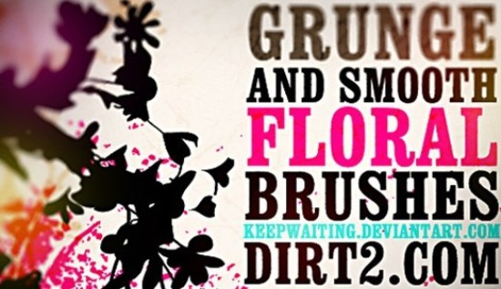 Grunge and Smooth Floral Brushes