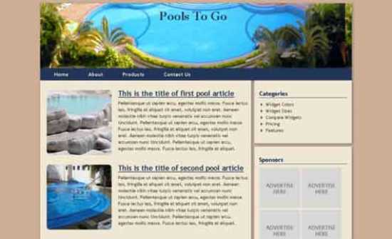 PoolsToGo Html5 Theme