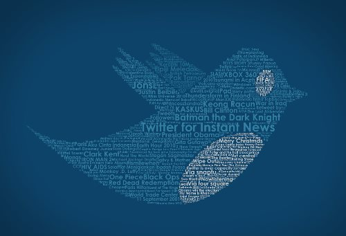 Twitter Bird in Typography