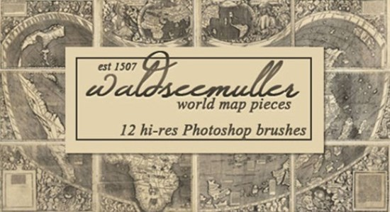 World Map Photoshop Brushes