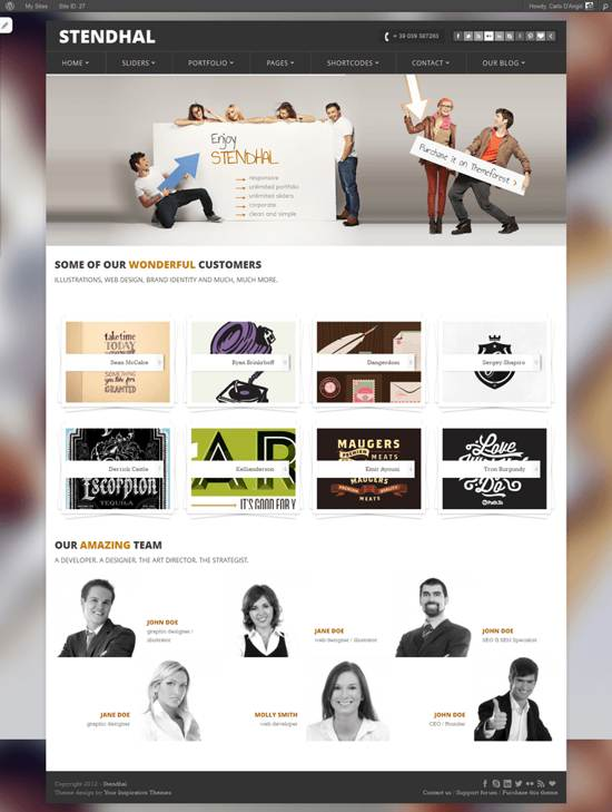 stendhal wordpress theme