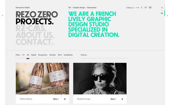 rezo zero website design