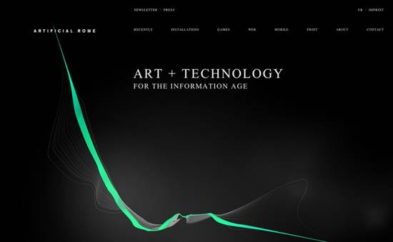 artificial rome website design