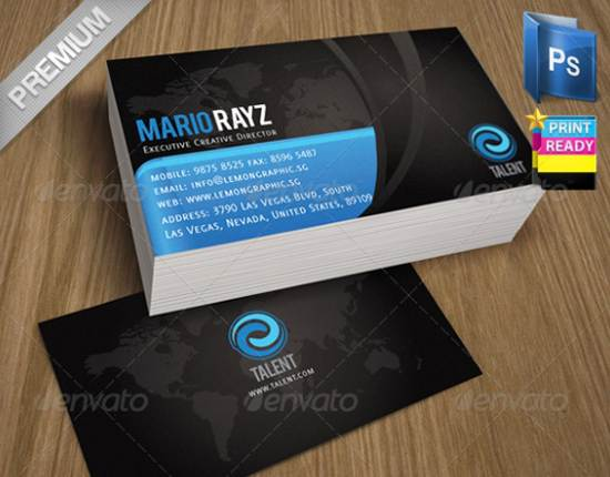 premium talent corporate card templates