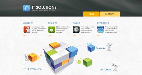 IT  solutions web template