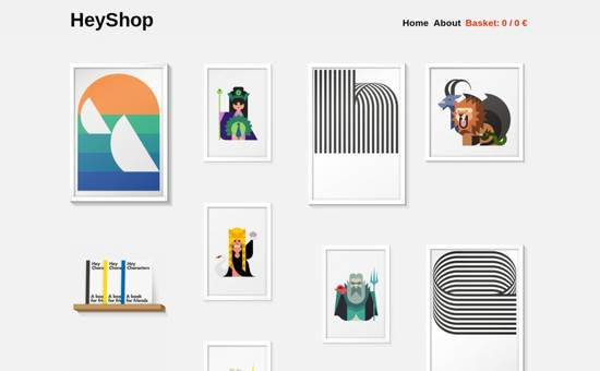 hey shop inspiration web design