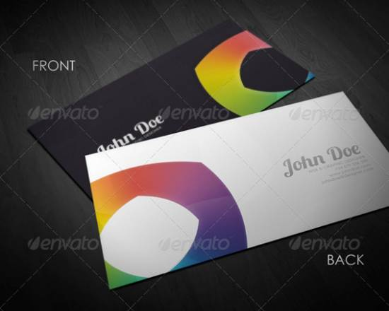 premium augura sleek vising card template