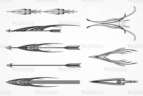 18 Decorative Arrows Vector Pack