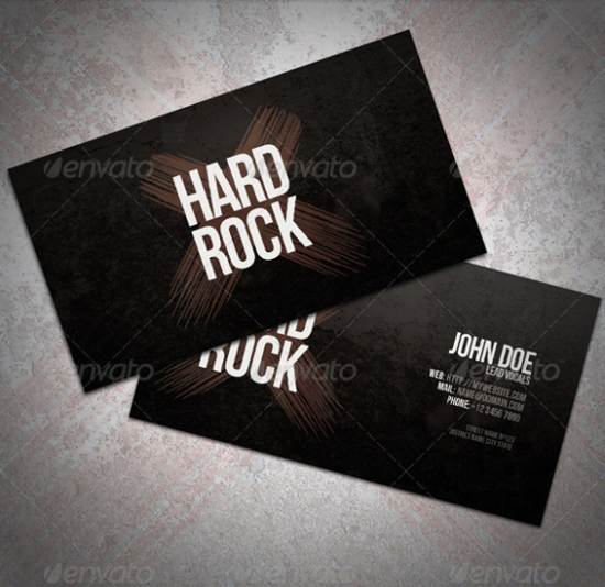 premium hard rock visiting card template