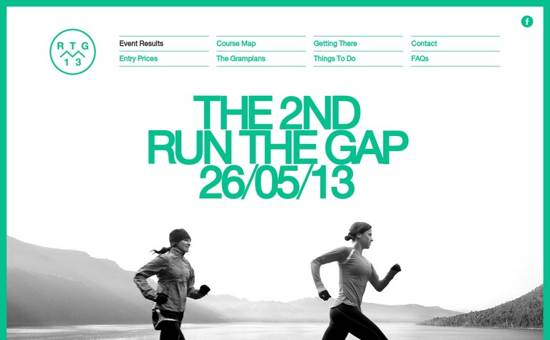 run the gap website design