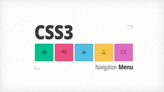Colorful CSS3 Animated Navigation Menu