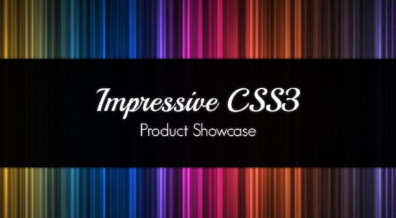 Impressive Product Showcase with CSS3