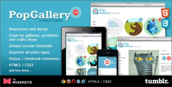 Pop Gallery Tumblr Photography Theme