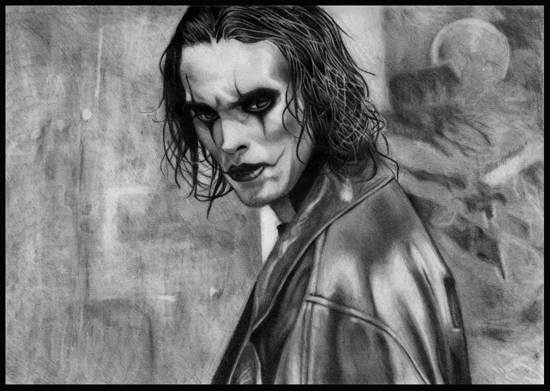 the crow pencil drawing