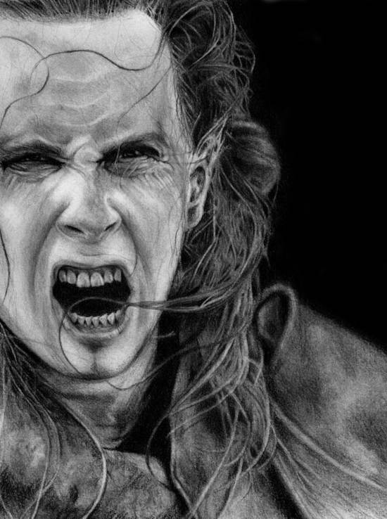 nergal pencil drawing