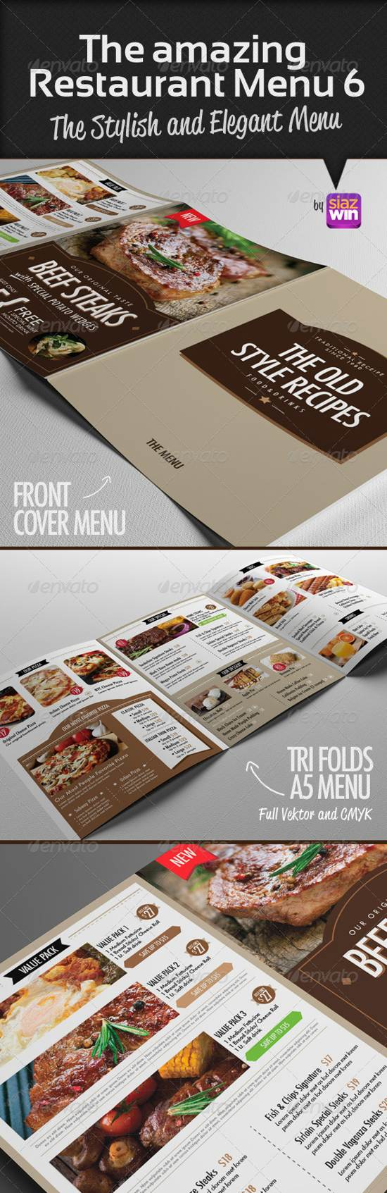 amazing restaurant menu template