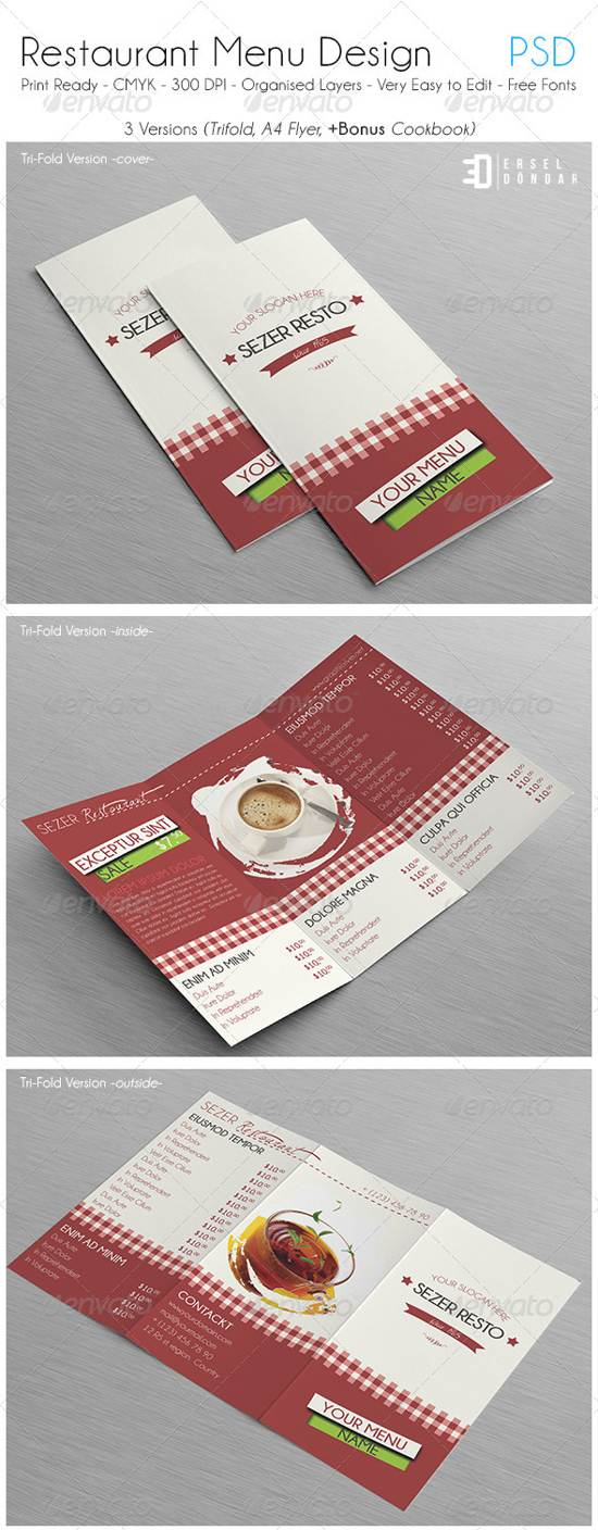 food menu design psd